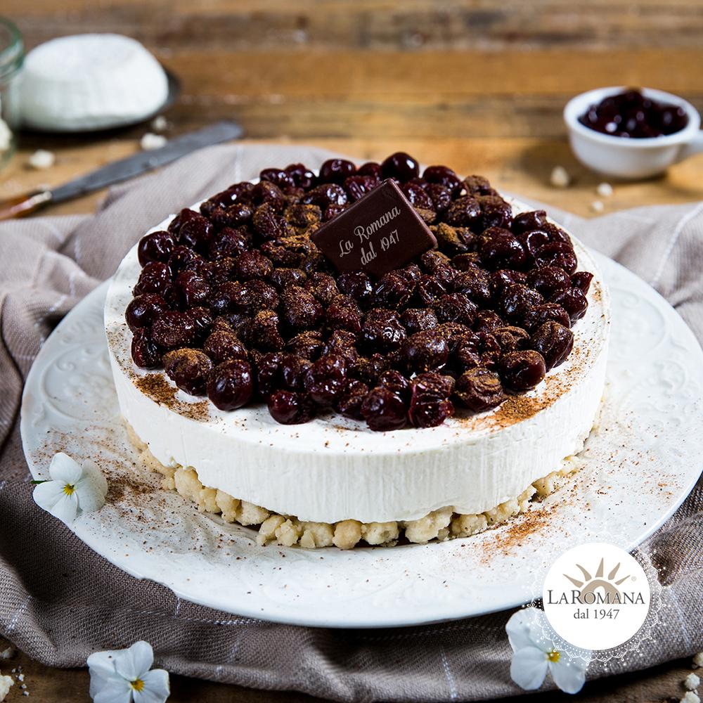 Cheesecake alle visciole e noce moscata-Gelateria-La-Romana-1000x1000px