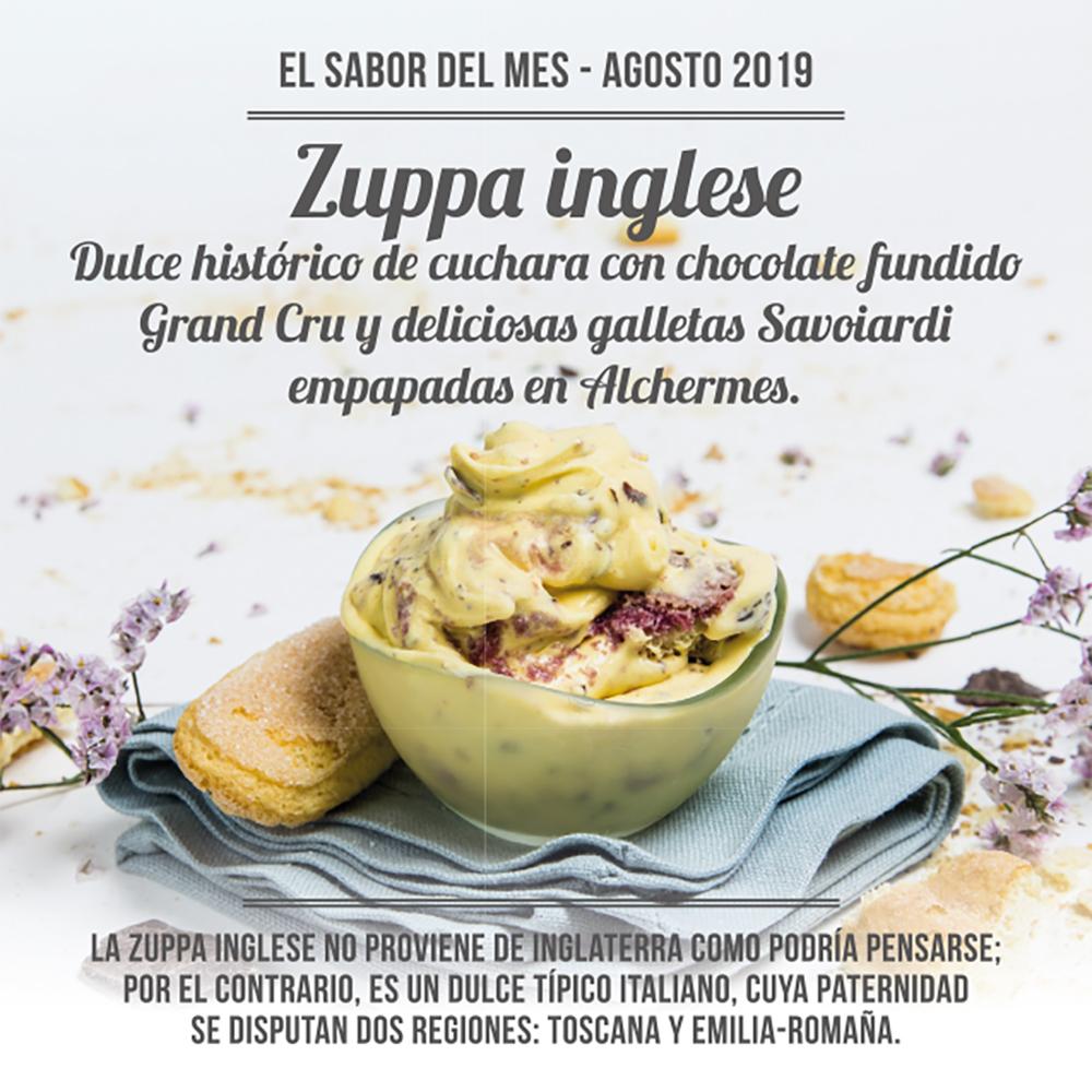 El sabor del mes de agosto está inspirado en un dulce muy popular en todo el mundo: La Zuppa inglese.