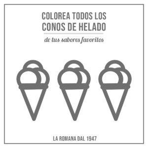 Colorea los conos de helado 1
