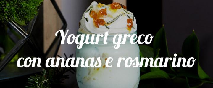 Gelato de yogur Griego, piña y romero